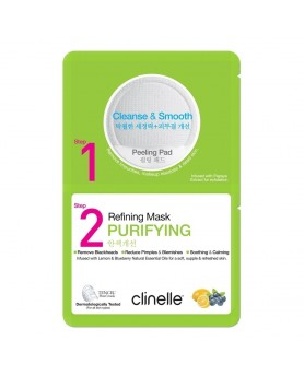 2 in 1 去角质深层修护面膜 (零瑕净肌保湿面膜) Clinelle 2-step Peeling Pad Purifying Refining Mask